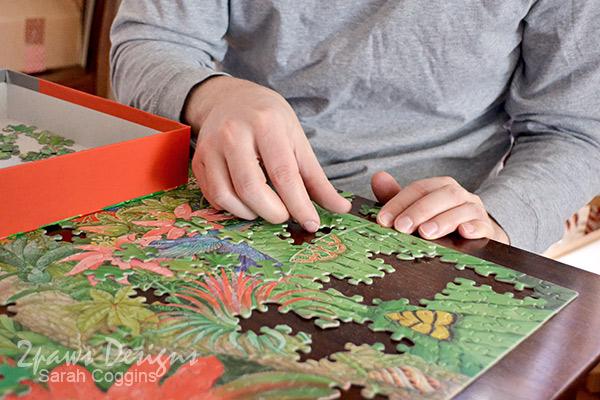 Hallmark Tropical Wonders Puzzle Piecing #LoveHallmark