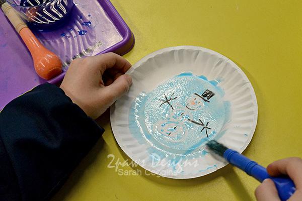 Paper Plate Snow Globe kids' craft