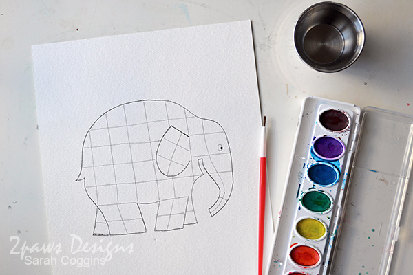 Elmer Elephant inspired Painting: Supplies