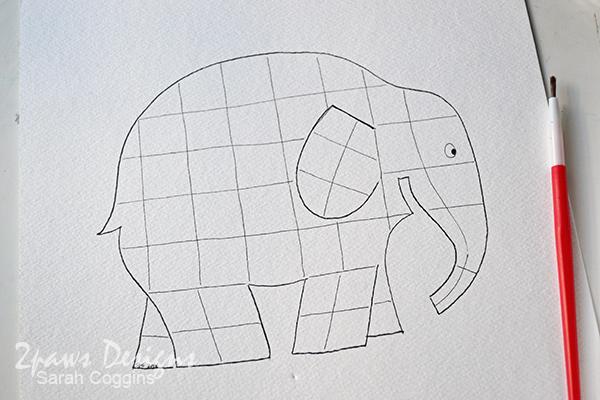 Elmer Elephant inspired Painting: Patchwork Elephant Printable