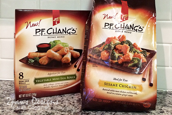 PF Chang's Home Menu: Vegetable Mini Egg Rolls & Sesame Chicken #FrozenRewards