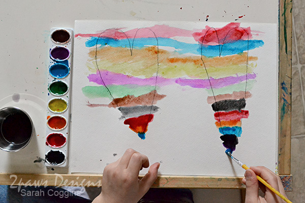 Rainbow Painted Valentines: Painting