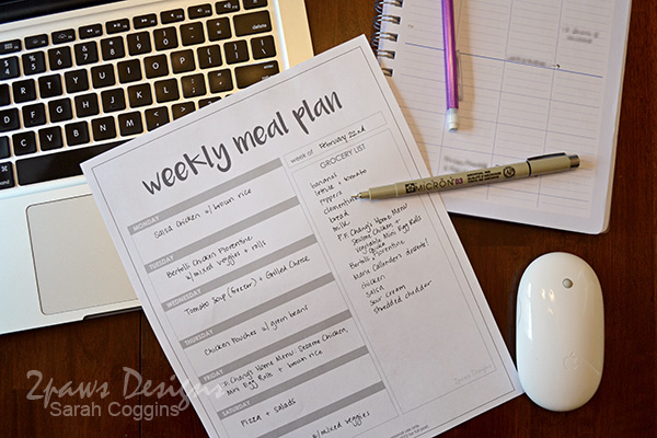 Weekly Meal Plan: complete
