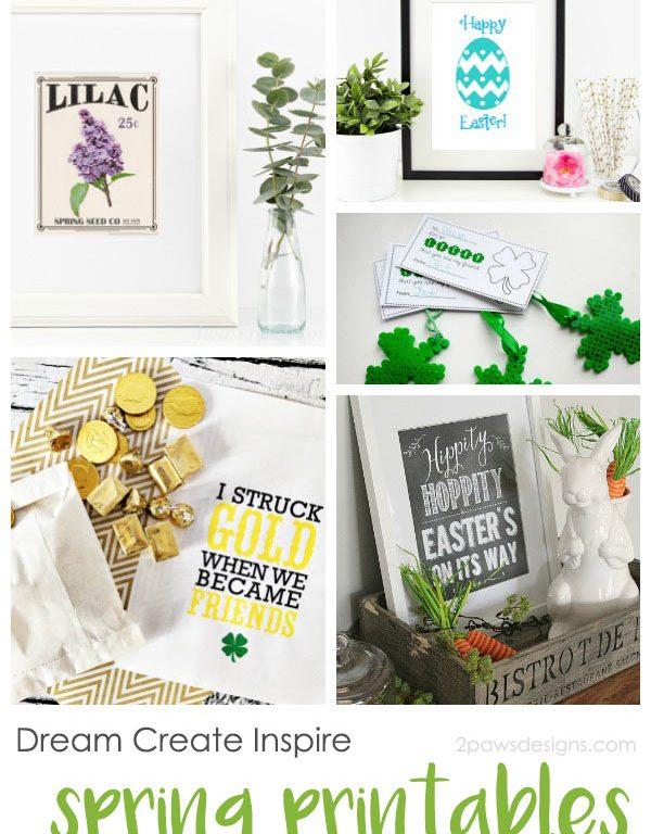 Dream Create Inspire: Spring Printables