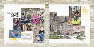 Hideaway Woods March 2016 digital scrapbooking page