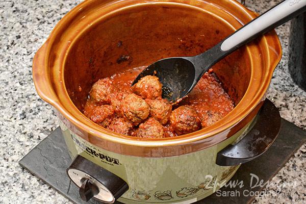 Meatball Sub with Nello's Sauce recipe: Step 3 Meatballs & Sauce