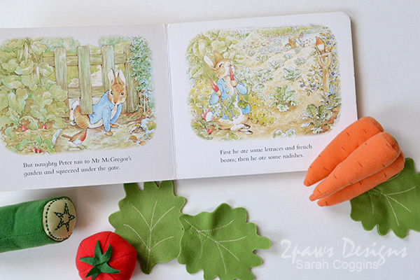 The Tale of Peter Rabbit Board Book + Ikea Plush Vegetables