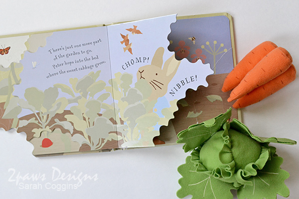 Peter Rabbit Munch! Board Book + Ikea Plush Vegetables
