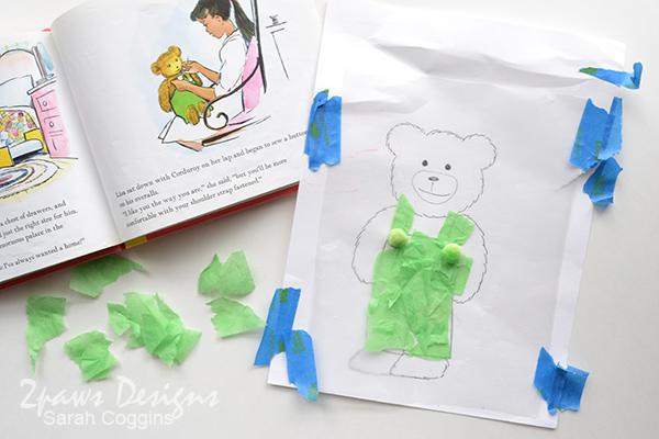 Corduroy Bear Tissue Paper Craft