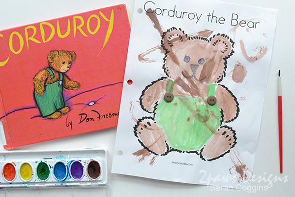 Corduroy Bear Book & Watercolors