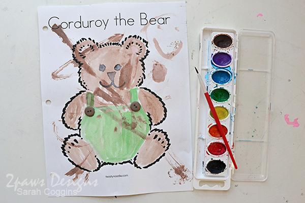 Corduroy Bear Watercolor