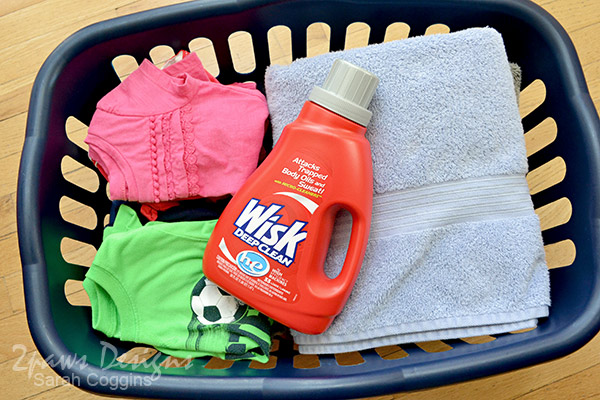 Laundry Basket and Wisk Detergent #Wisk60 #ad