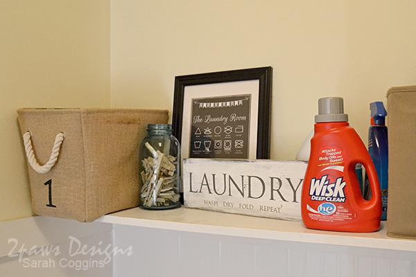 Laundry Room Shelf Decor