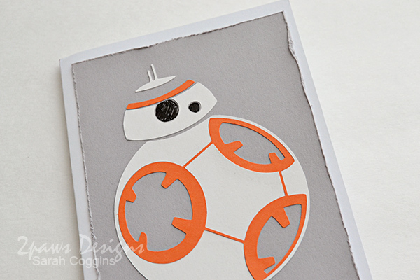 simple Star Wars BB-8 card
