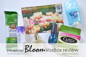 Influenster Bloom VoxBox review #BloomVoxBox