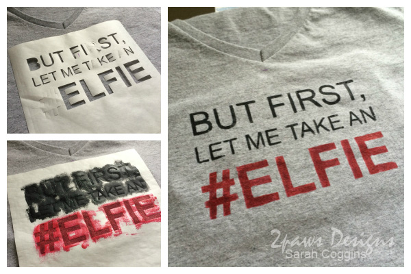 DIY #Elfie T-Shirt Collage