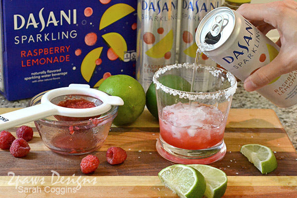 Raspberry Lemon-Lime Naptime Mocktail Recipe: Dasani Sparkling Water #NewWayToSparkle #ad
