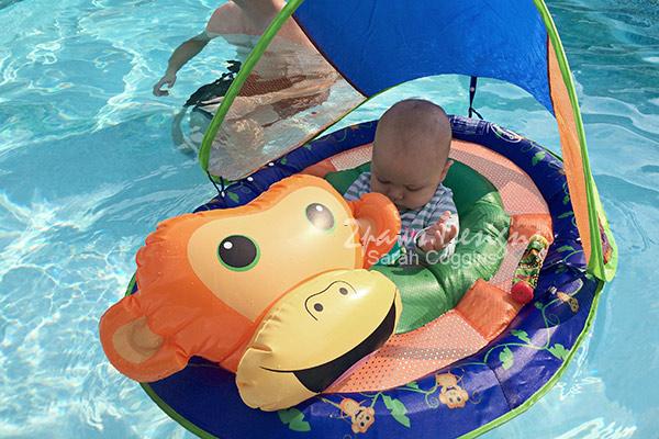 SwimWays® Spring Baby Float Animal Friends baby float: Monkey #SwimWays #ad