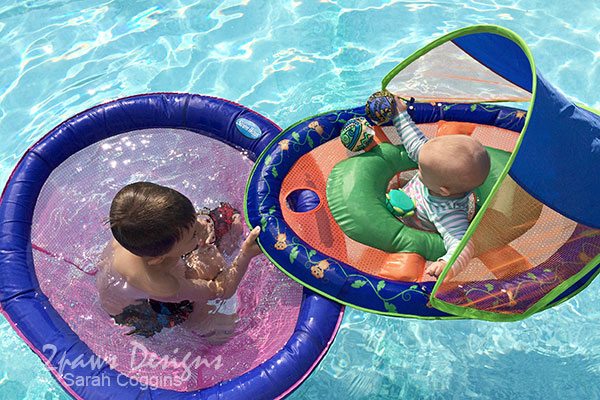 SwimWays Spring Floats: Papasan and Baby Animal Friends #SwimWays #ad