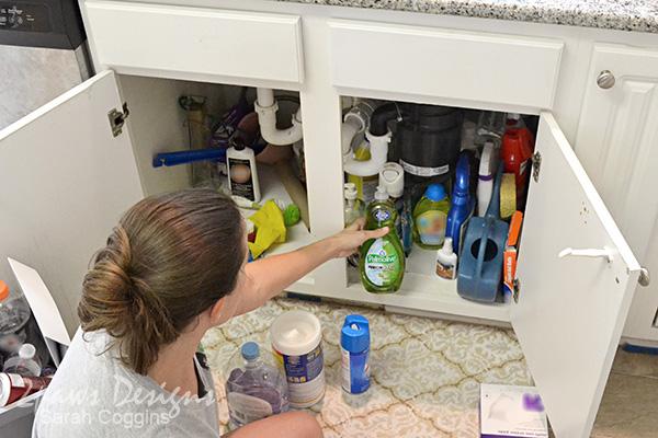 Project Kitchen: Under Sink Organization - Step 1