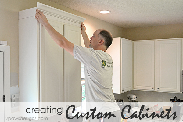 "Project Kitchen: Creating ""Custom"" Cabinets with Crown Moulding"