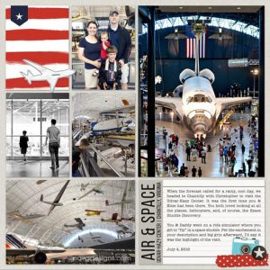 Air & Space: Udvar-Hazy Center digital scrapbook layout