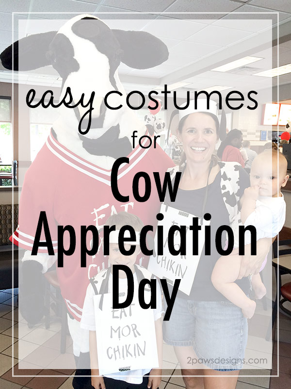 Easy Cow Appreciation Day Costume + Printable