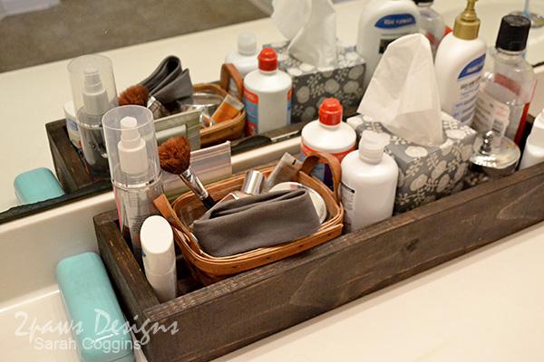 DIY Bathroom Organizer: complete
