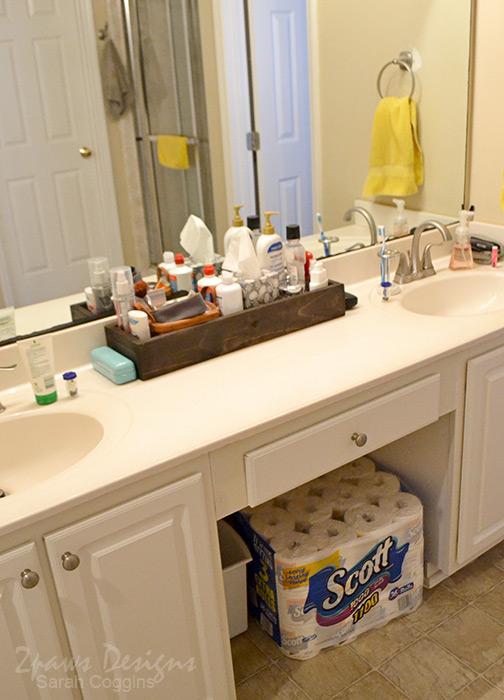 DIY Bathroom Organizer: complete #Scott100More #ad