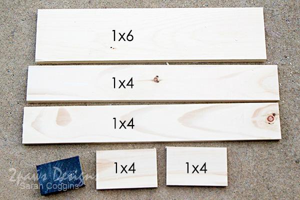 DIY Bathroom Organizer: wood cuts