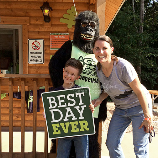 Mommy & Me Monday: Go Ape Treetop Junior - Best Day Ever