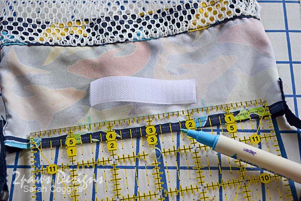 DIY Seashell Bag: Step 10 - Add Velcro Closure