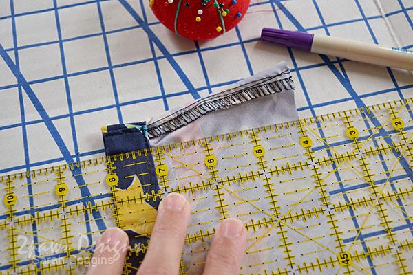 DIY Seashell Bag: Step 2 - Creating a new Seam