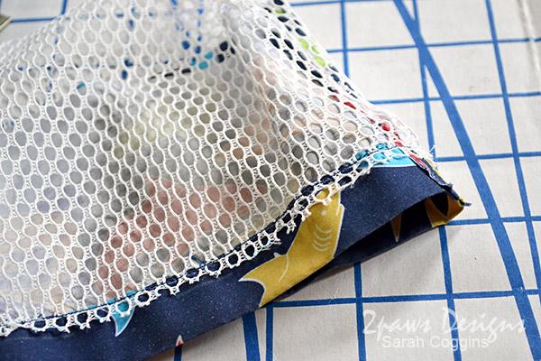 DIY Seashell Bag: Step 6 - Sew Fabrics Together