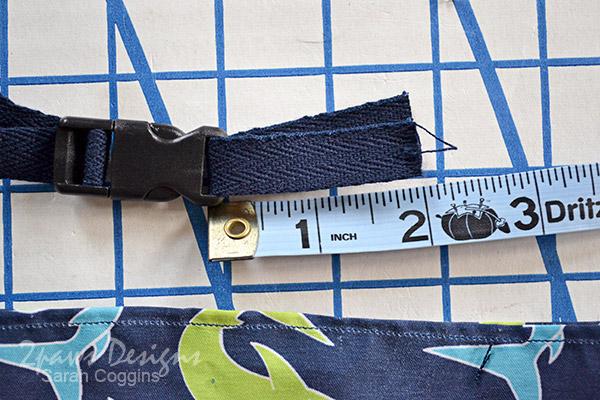DIY Seashell Bag: Step 9 - Twill Tape Ribbon & Buckle