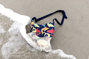 DIY Seashell Bag on the Beach