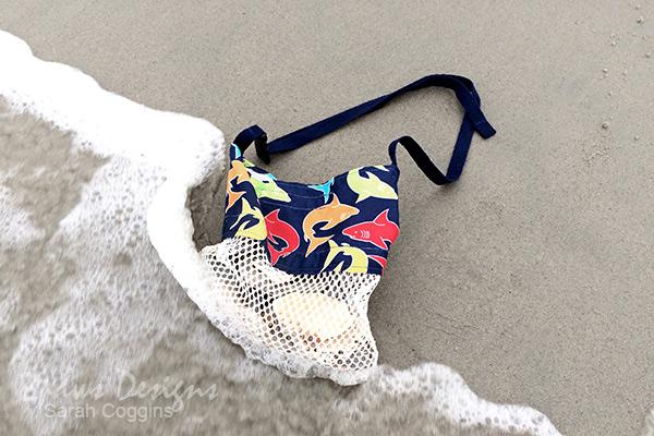 DIY Seashell Bag on the Beach