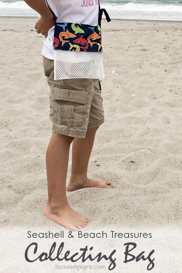 DIY Seashell & Beach Treasures Collecting Bag