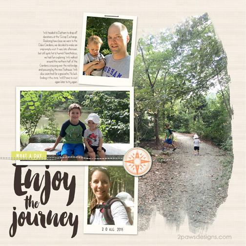 Duke Gardens - August 2016 digital scrapbook layout