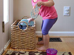 Foyer: Kids' Shoe Basket