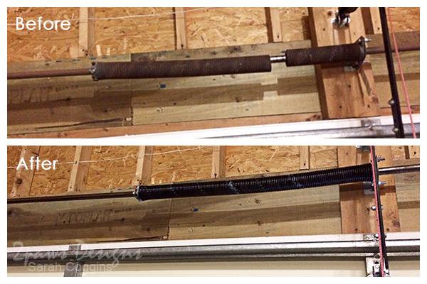Garage: Tension Spring Replacement for Door #foreclosuretohome