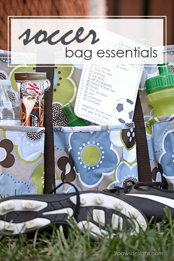 Soccer Bag Essentials including free printable