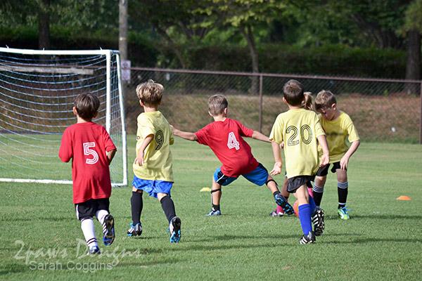 Soccer game: offense