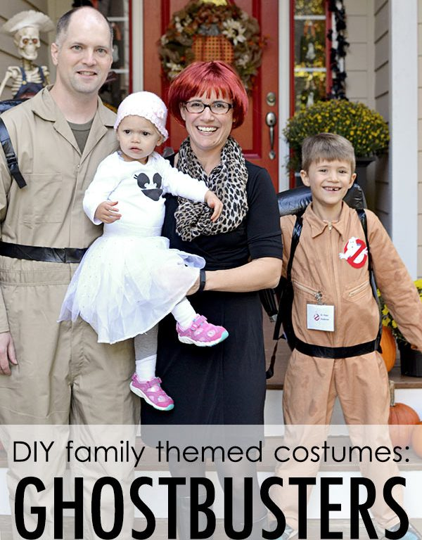 Family Themed Halloween Costumes: Ghostbusters