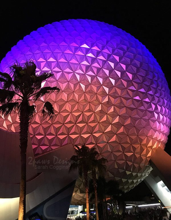 Project 52 Photos 2016: EPCOT Spaceship Earth at Night