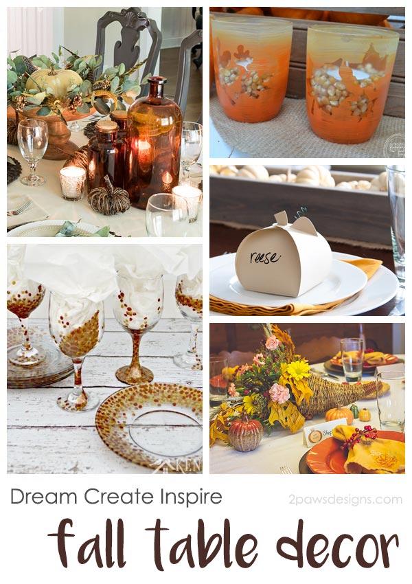Dream Create Inspire: Fall Table Decor