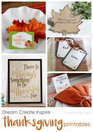 Dream Create Inspire: Thanksgiving Printables