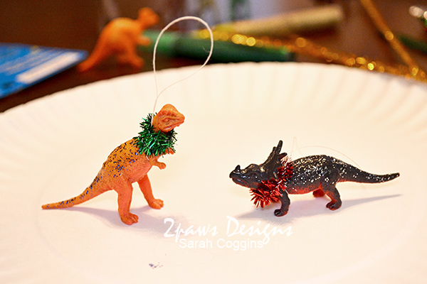 DIY Dinosaur Ornaments: Complete and Ready to Hang