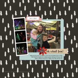 Holiday Express 2016 digital scrapbook page