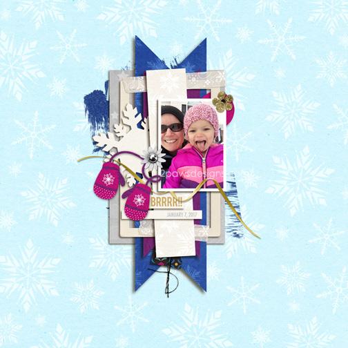Snow Selfie digital scrapbook page
